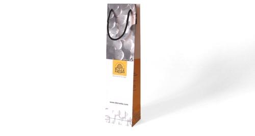 Sacs papier bouteille luxe recyclable FSC