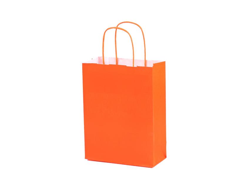 sac en papier avec poignée torsadée